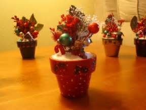 christmas decorations hand painted terra cotta pots with d