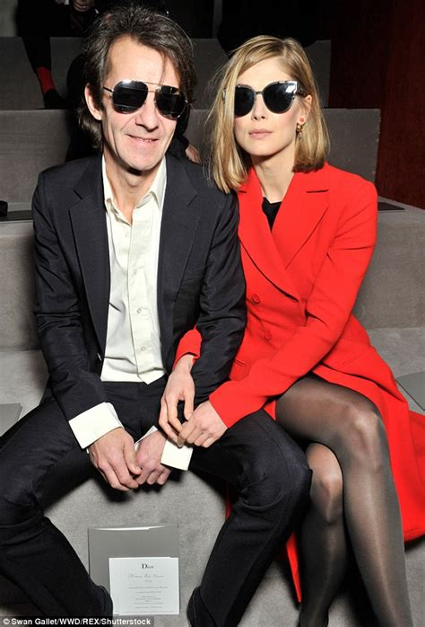Rosamund Pike and Robie Uniacke arrive at Dior's Paris Fashion Week show   Daily Mail Online