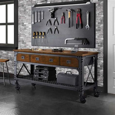 whalen work bench whalen 72 quot metal and wood workbench what s my next