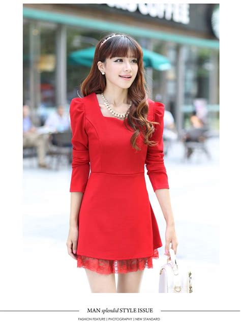 Dress Merah dress import merah cantik natal model terbaru jual murah