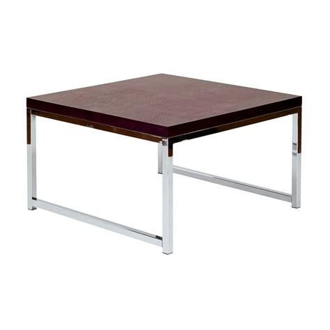 ave six wall chrome and espresso coffee table wst17
