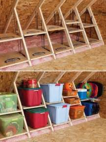 Attic shelves by using the structures in the attic room turn your