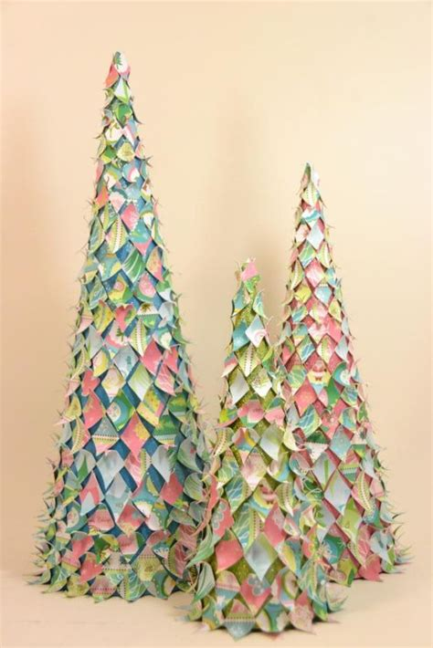paper cone tree craft crafting trees and acrylics on