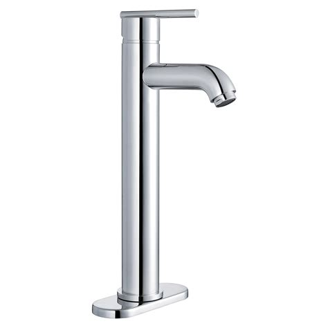 single handle lavatory faucet with single