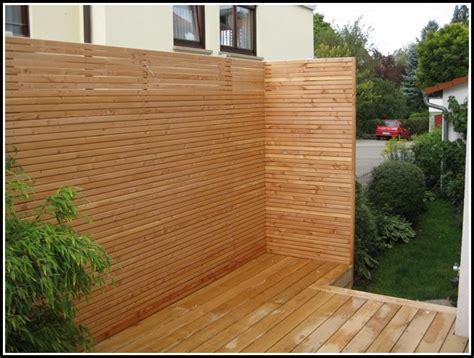 Sichtschutz Holz Terrasse by Sichtschutz Terrasse Holz Bauanleitung Terrasse House