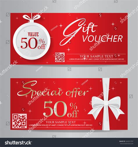 customer discount card template and new year gift voucher certificate coupon