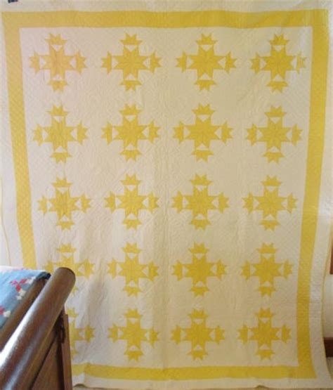 Yellow And White Quilt by Yellow And White Budding Quilt Sold Rennels