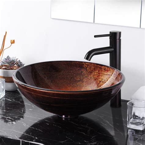 Bathroom Bowl Sink Artistic Tempered Glass Vessel Sink Bathroom Lavatory Bowl Pattern Basin In Bathroom Sinks
