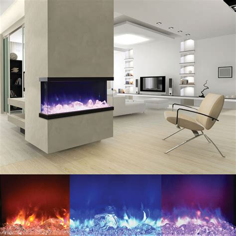 3 Sided Electric Fireplace by Amantii 50 Tru View Xl Panorama 50 Inch 3 Sided Electric