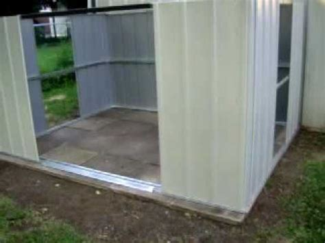 Metal Shed Floor by Arrow Metal Shed Build Day 1
