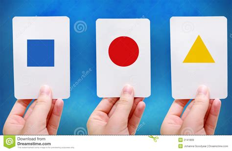 free shape flashcards for kids totcards de flitskaarten van vormen royalty vrije stock