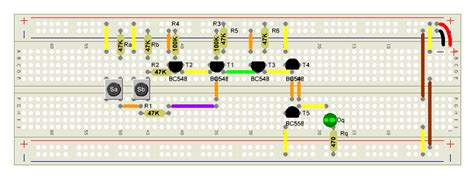 transistor bc548c bc546c bc550c und gatter