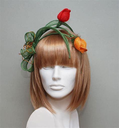 Handmade Fascinators - handmade fascinator tulips wedding fascinator by
