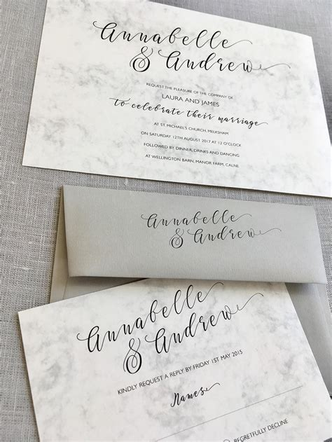 Wedding Invitation Stationery Sets by Natalie Marble Wedding Invitation Set Eaton Wedding