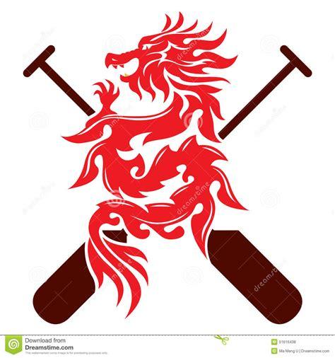 dragon boat oar dragon boat graphic design stock vector image of animal