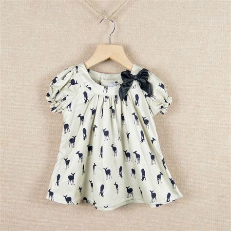 Oshkosh China 6t new fashion t shirt tops sleeve blouse deer fawn pattern children clothing