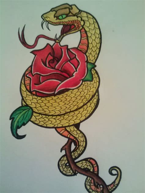 rose snake tattoo 33 snake and tattoos