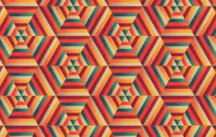 how to create a blended hexagonal print design in adobe