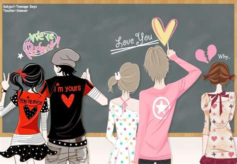 wallpaper cute korean couple cute anime couple kyaa yoboseo chingu dimari ya