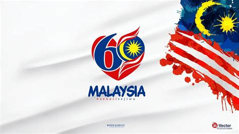 malaysia day merdeka independence day of malaysia flag greeting card