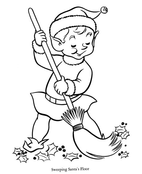 girl elf coloring pages coloring home