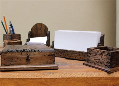 Deck Out Your Desk With Unique Office Supplies From Etsy Rustic Desk Accessories
