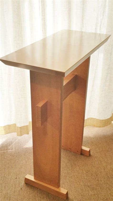 desk podium standing custom wood podium lectern or standing desk by