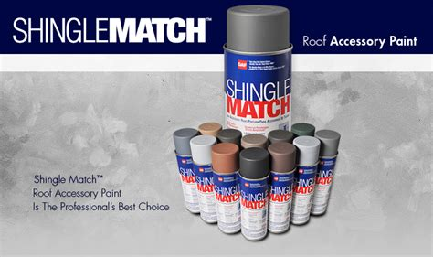 gaf shingle match roof accessory paint