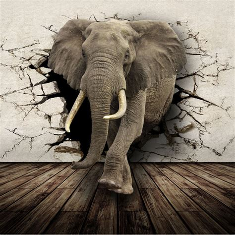 elephant wallpaper for walls aliexpress com buy 3d lifelike animal mural wallpaper