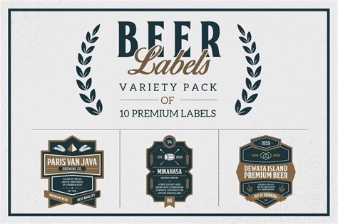 premium beer labels logo templates on creative market
