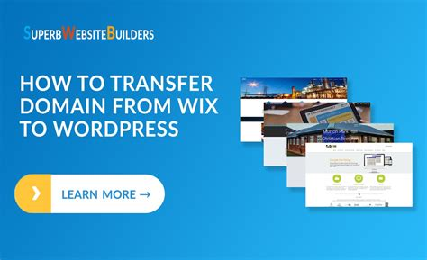 transfer domain  wix  wordpress step