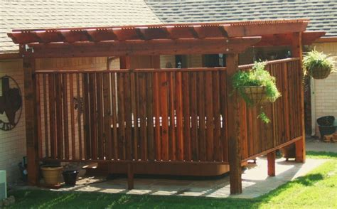 Outdoor privacy screens for decks with remarkable outdoor privacy screen for hot tub design