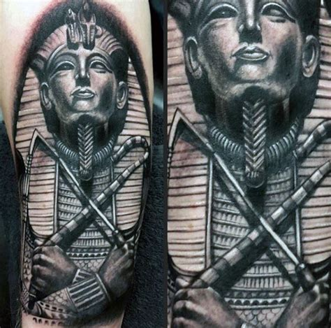 black and grey egyptian tattoo 60 king tut tattoo designs for men egyptian ink ideas