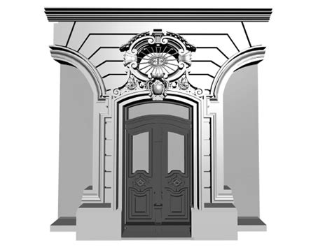 home design studio 3d objects european classic entrance door 3ds 3d studio max software architecture objects