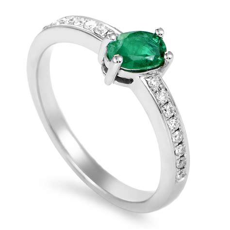 rings s 18k white gold emerald ring
