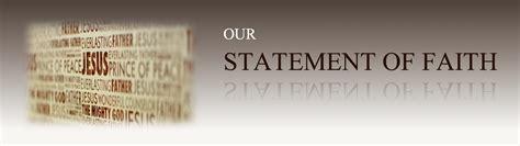 Consecration Sermon Outline by Our Statement Of Faith Faith Fellowship Community Church