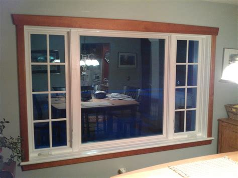 pvc window trim interior vinyl clad casement window interior with cherry trim