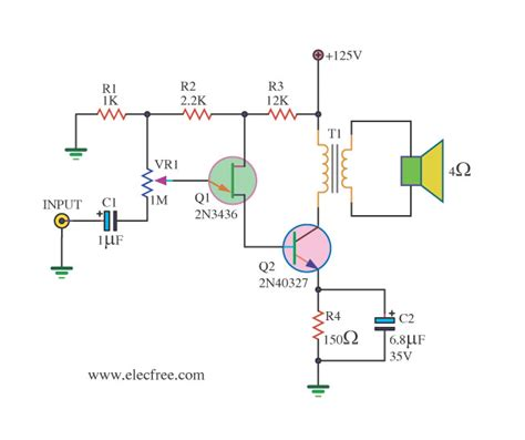 transistor in lifier circuit mini audio lifier circuit electronic projects circuits