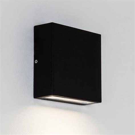 outdoor wall lights black astro elis ip54 led outdoor wall up light