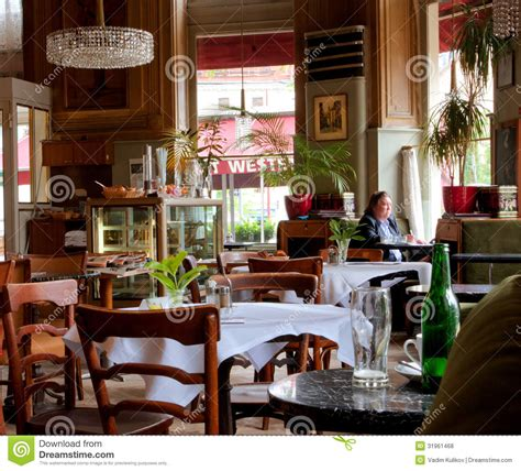 design cafe traditional viennese style interior design and people inside editorial
