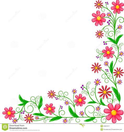 Colourful Arts Series 17 colorful corner border clip floral corner ornament