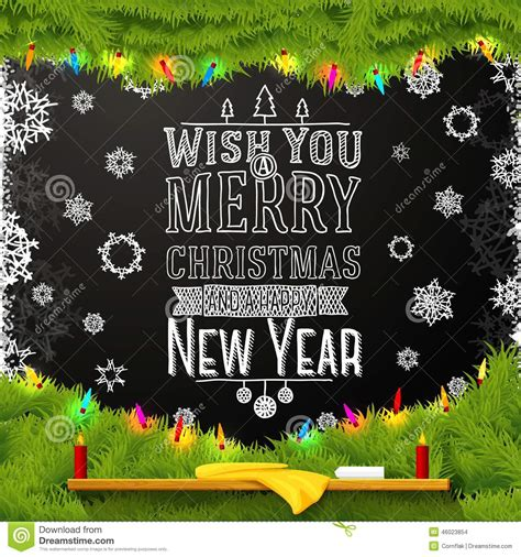 wish you a merry and happy new year stock vector