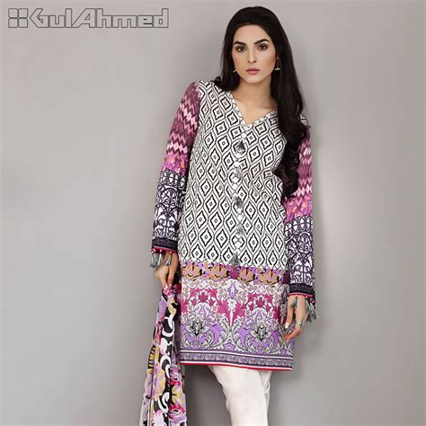 New Collection gul ahmed three lawn summer 2017 2018