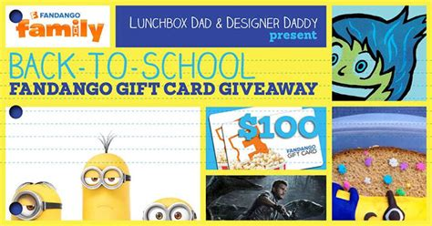 Fandango Gift Card Not Working - lunchbox dad summer movie spectacular lunch recipe and 100 fandango gift card giveaway