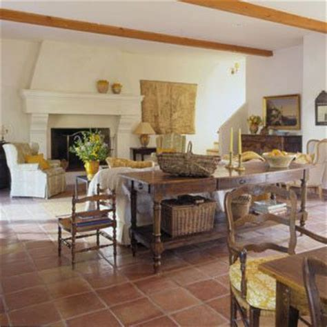Living Room With Mexican Tile Flooring Terracotta And Terra Cotta On