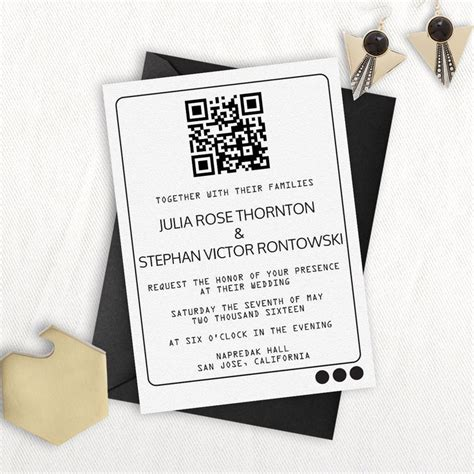 Wedding Invitation Qr Code by 35 Best Images About Invitaci 243 N On Embossed