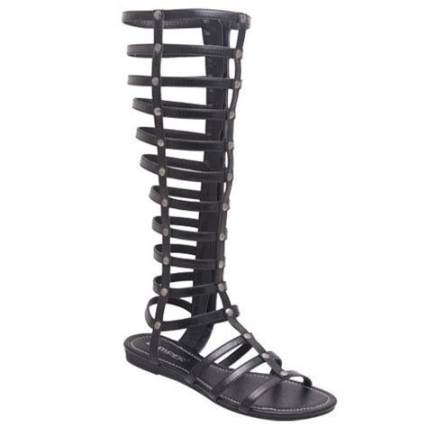 bumper gladiator sandals bumper lory90 s strappy knee high flat bottom zipper