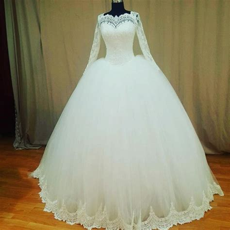 gold lace appliques long sleeves white tulle ball gowns wedding dress real pictures ball gowns wedding dresses 2017 vintage long