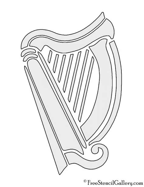 irish instruments coloring page harp instrument drawing sketch coloring page