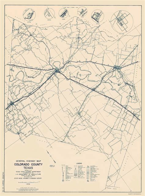 map of texas and colorado county maps colorado county texas hwy map by tx state hwy dept 1936